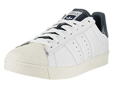 c0c4e5e8ee2 Image Unavailable. Image not available for. Color  adidas Superstar Vulc ADV  (White White Colegiate Navy) Men s Skate Shoes-