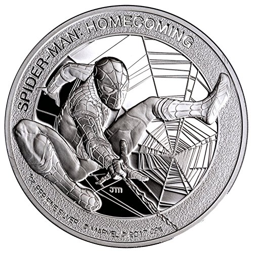 2017 CK Spider-Man Homecoming Marvel 1 oz Silver Proof Coin GEM Proof in its Original Government Packaging $5 Gem - 1 Proof Gem Oz Silver