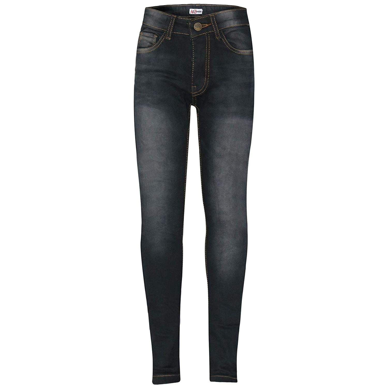 A2Z 4 Kids Kids Boys Skinny Jeans Designer's Black Denim Stretchy Pants Fashion Fit Trousers New Age 5 6 7 8 9 10 11 12 13 Years