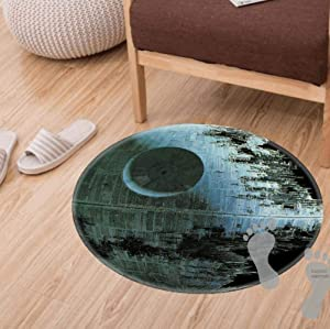 Modern Flannel Microfiber Non-Slip Machine Washable Round Area Rug Living Room Bedroom Study Soft Carpet Floor Mat Home Decor 60CM Feet Diameter,Star Wars 2