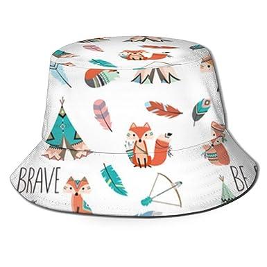 Brave Little Fox Sombrero de Sol para Mujer Sombrero de Pescador ...