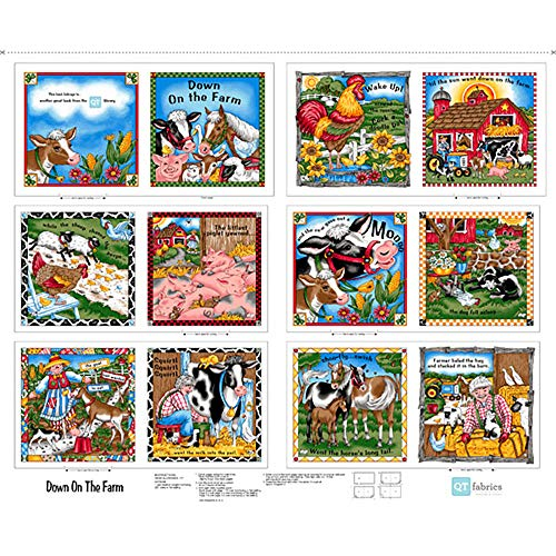 Quilting Treasures Sew and Go Down on The Farm Fabric Book Panel 36 by 44 inches