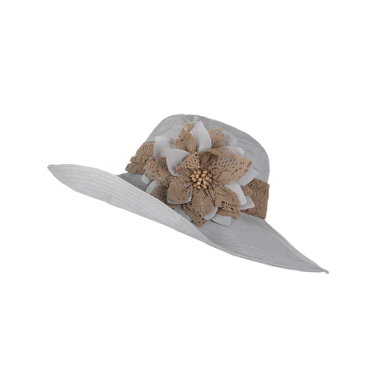 pretty-gentle52654 chapeu Sun hat for Women Design Flower Foldable Summer hat
