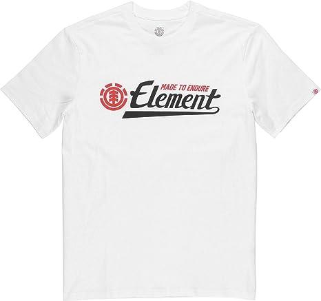 Element Signature Hombre Camiseta T-Shirt Optic White XS