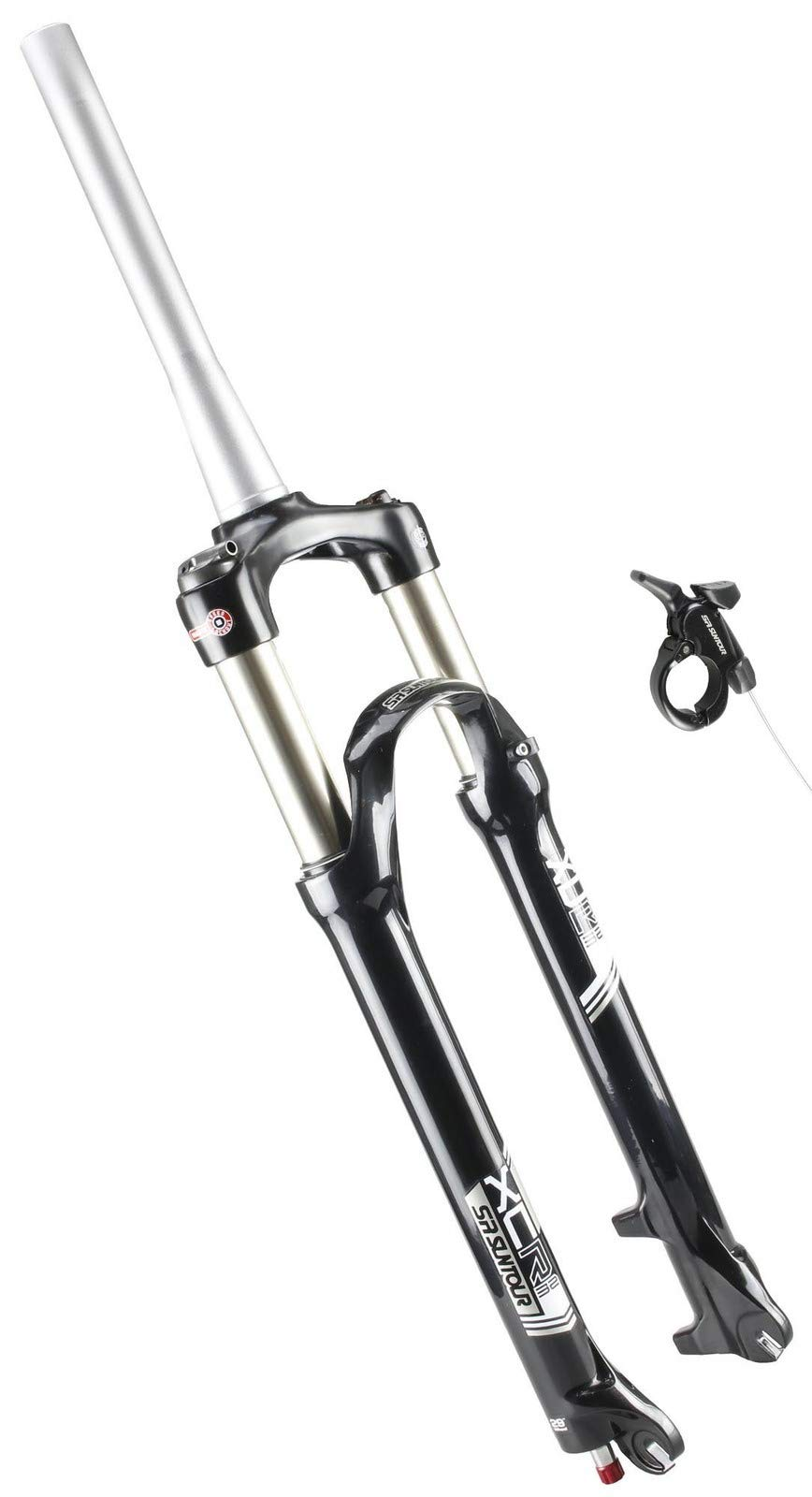 SR Suntour XCR32 MTB Bicycle Fork 29er Coil T100mm 9mm Tapered Remote Lockout by SR Suntour