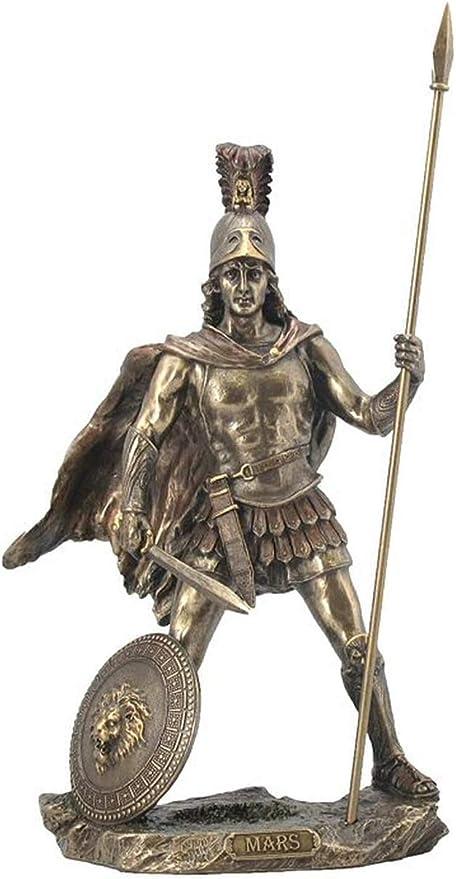 Escultura de la estatua de Marte/Ares - Dios romano de la guerra (bronce  fundido en frío): Amazon.es: Hogar