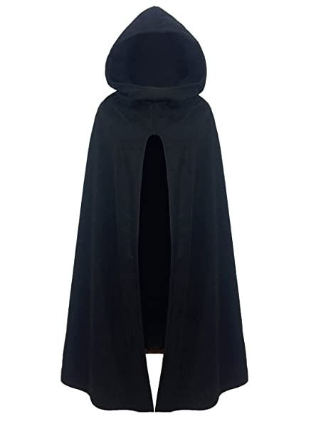 941c1251 futurino Women Gothic Hooded Open Front Poncho Cape Coat Outwear Jacket  Cloak