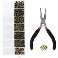 Baoblaze Jewelry Findings Set Kits Clasps/Jump Rings Pliers Set Making Craft Supplies