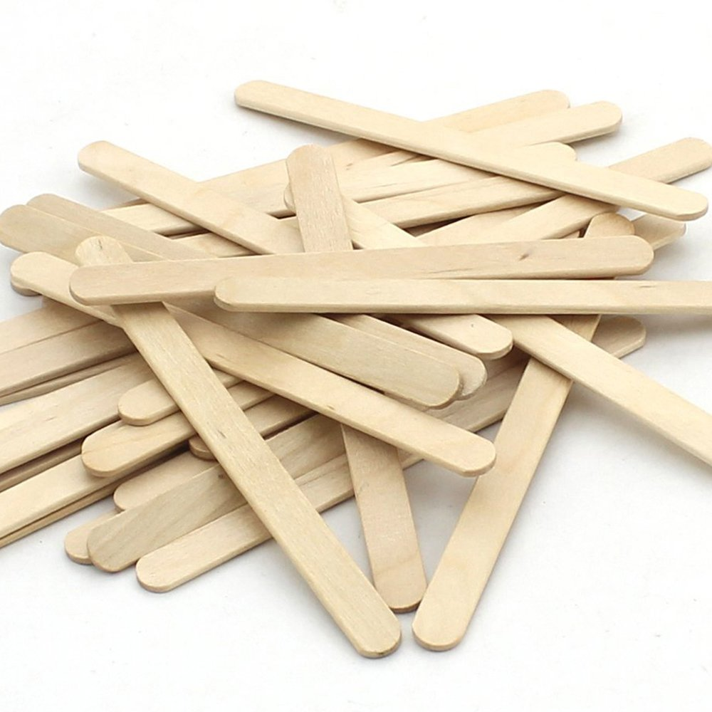Z Zicome 250Pcs Natural Wooden Craft Sticks Popsicle Sticks 4 1 2 Inch
