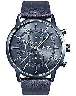 4dced30e44f9 Hugo BOSS Reloj Cronógrafo para Hombre de Cuarzo con Correa en Cuero 1513575