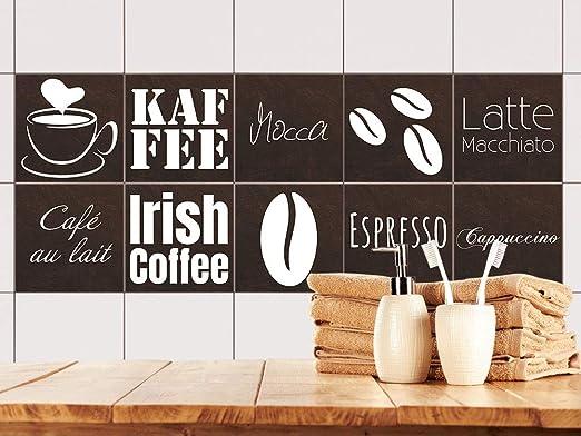 GRAZDesign Fliesenaufkleber Kaffee//Sahne//Orchideen-Bl/üte K/üchen-Fliesen mit Folie /überkleben BxH BxH Fliesenma/ß: 10x10cm ////Bild: 105x70cm