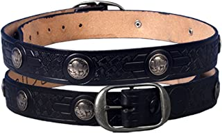 product image for Hot Leathers 11051 Black Size 42 Buffalo Leather Nickel Belt