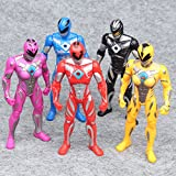 L Power Rangers The Movie 2017 New 17cm Action Figures 5pc Set