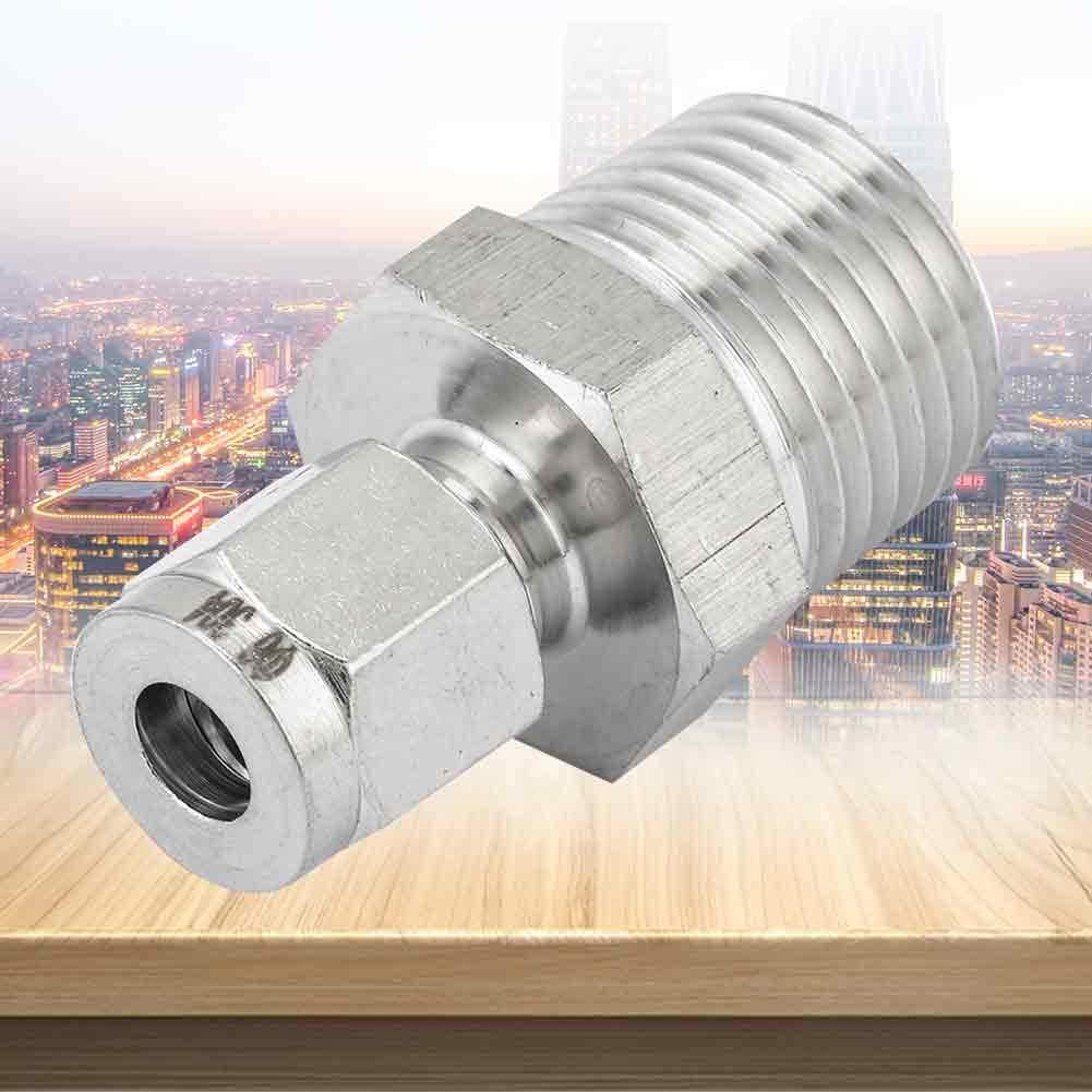 ZG1//2-6 raccords de tuyauterie en acier inoxydable ZG1 1pcs raccord de tube de compression 2 304 connecteur m/âle joint droit virole pour eau huile air