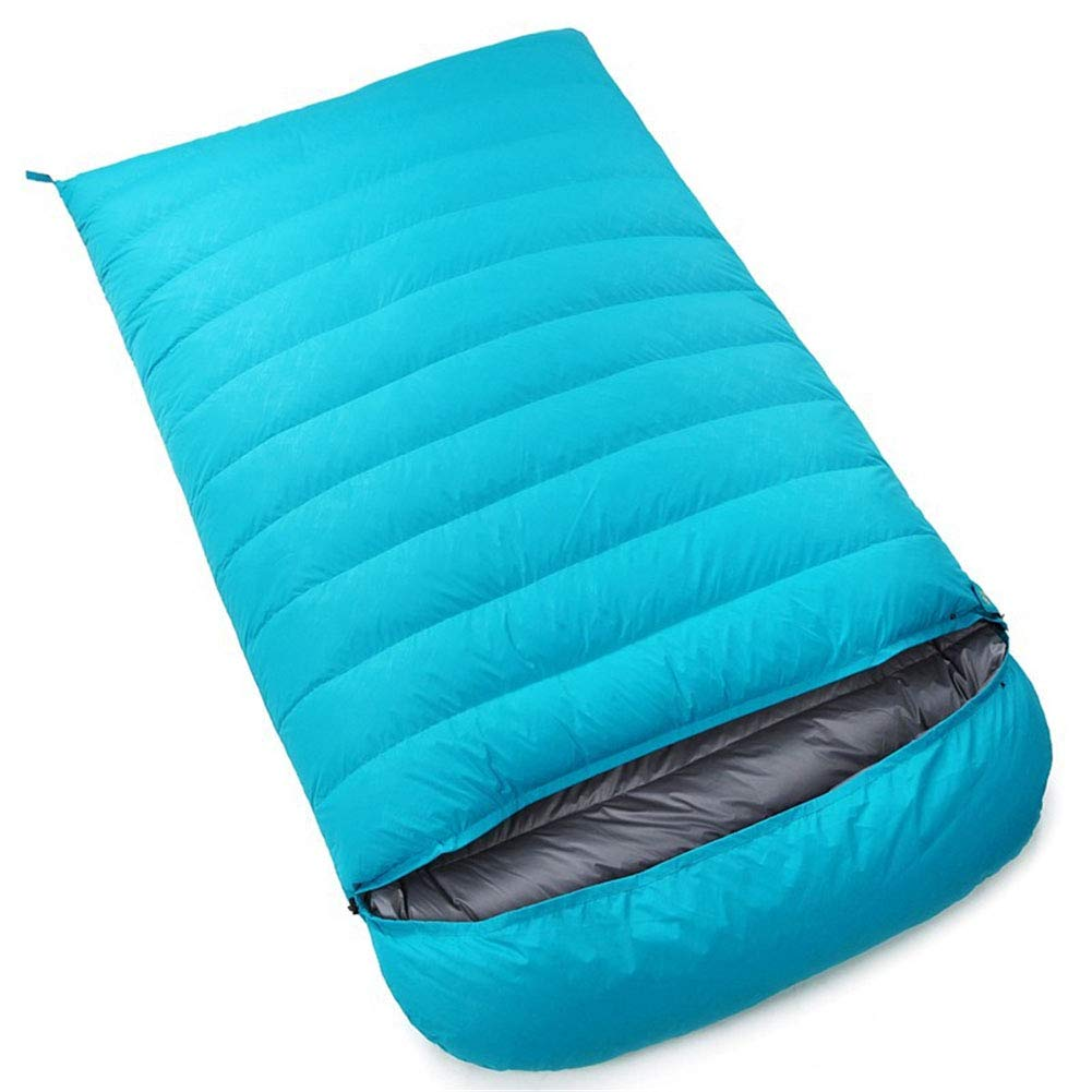 Durable,breathable,comfortable寝袋、軽量防水睡眠バッグ4シーズンキャンプハイキングポータブル睡眠袋大人2人快適封筒スリーピングパッド,darkblue,4000g B07P2YJ9XN lakeblue 5000g 5000g|lakeblue