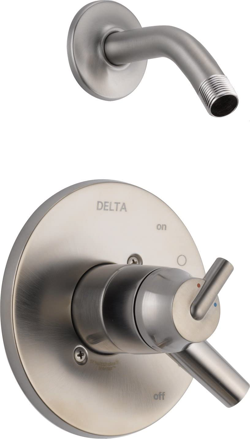 Delta Faucet Trinsic 14 Series Single-Function Shower Faucet Trim Kit, Matte Black T14459-BLLHD (Shower Head and Valve Sold Separately) - -