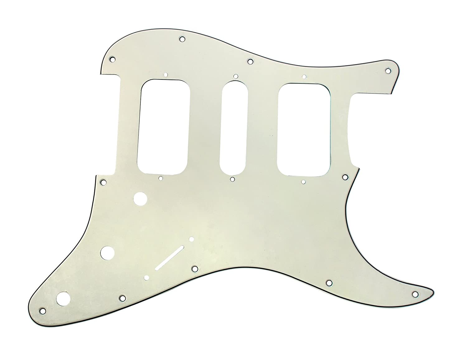 White 920D Strat 3 Ply HSH Pickguard Fender Stratocaster CNC Cut