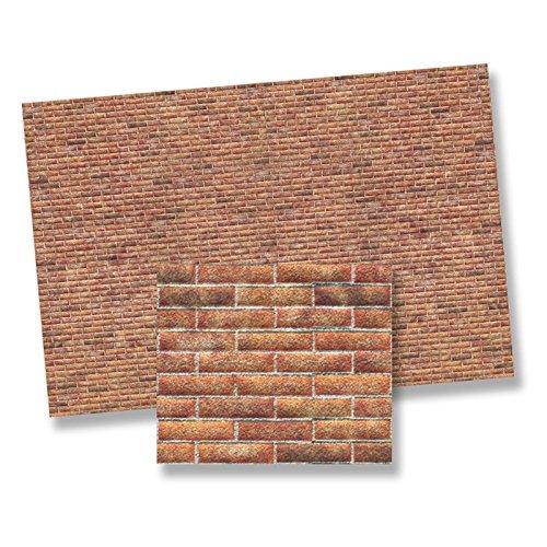 World Model Dollhouse Miniature 1:24 Scale Modern Brick Wall Sheet
