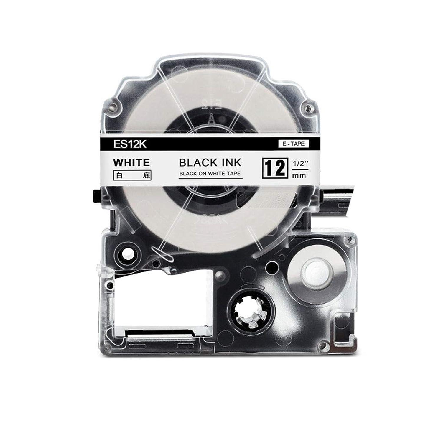 物理学者確認してください変化するブラザー工業 TZeテープ ラミネートテープ(黒地/白字) 12mm TZe-335