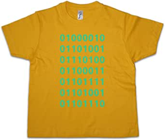 Urban Backwoods Binary Code Niños Chicos Kids T-Shirt