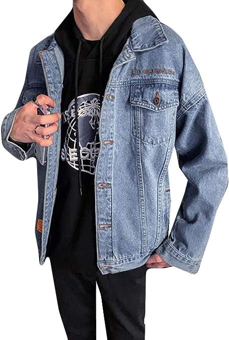 AOZUOデニムジャケット メンズ 春秋 ジージャン デニムコート ダメージ加工 ショート アウター 体型カバー 細身 Gジャン 学生ジャケット ストリート系