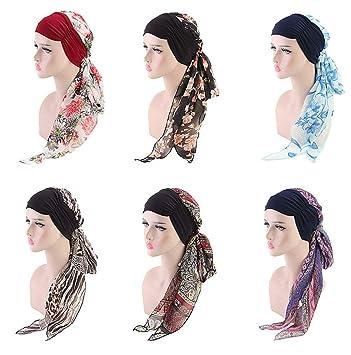Nacola Chemo Kopfbedeckung Turbane Für Frauen Langhaar Kopftuch Headwraps Krebshüte Amazon De Beauty