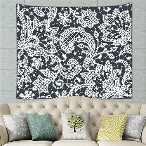 Texture Zentangle Flowers Mural for Bedroom Living Room Dorm Home Décor 60 X 40 Inches
