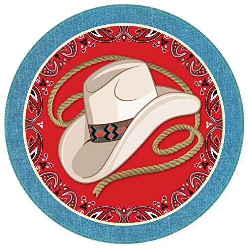 Forum Novelties X75919 Way Out West Dinner Plate, Multi-Colour, One Size