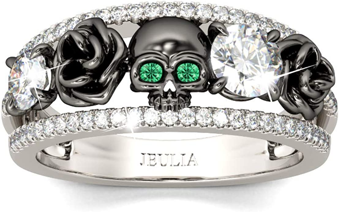 SKULL PLAIN FASHION JEWELRY .925 SILVER PLATED RING 12.5 S23533