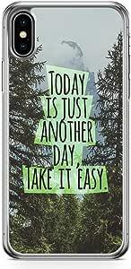 جراب هاتف لاود يونيفيرس لهاتف iPhone XS Quote جراب هاتف اقتباس من اقتباس من يوم الهاتف غطاء سهل شفاف لهاتف iPhone XS