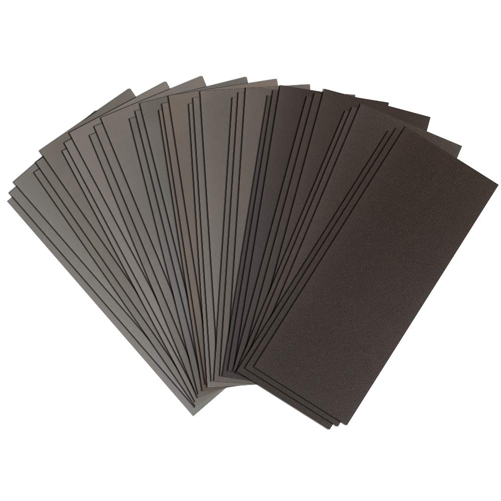 120 To 3000 Assorted Grit Sandpaper for Wood Furniture Finishing, Metal Sanding, Automotive Polishing, Marine Body Work and is Ideal for Wet Dry Sanding, 9 x 3.6 Inch Per Sheet, 36 Pack Assortment