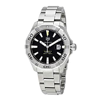 3acd4dbc65ff Image Unavailable. Image not available for. Color: TAG Heuer Aquaracer  Black Dial Calibre 5 Automatic Men's Watch ...