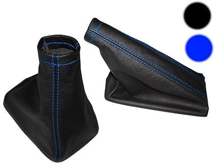 Funda para palanca de cambios de piel sint/ética negro//azul para coche AERZETIX