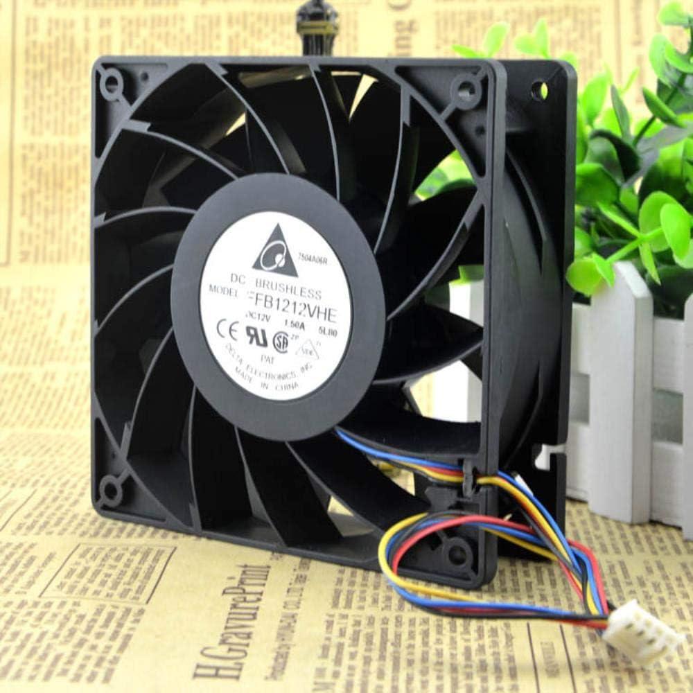 for Delta FFB1212VHE 1.5a 12038 12V Violent Fan 12CM 4-pin PWM Speed Control Temperature