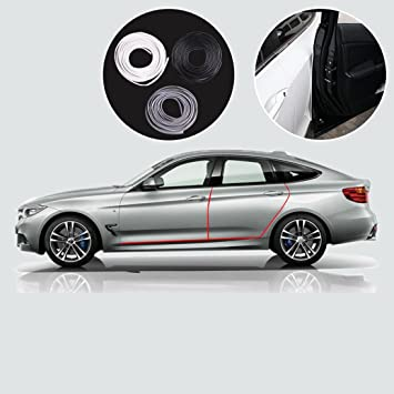 Protección para puertas del coche, Switchali 16FT / 5M Moldura de moldeo en negroTira de