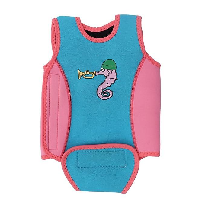 Traje de Baño para Bebés Chaleco de Natación Wrap Wetsuit Toddler ...