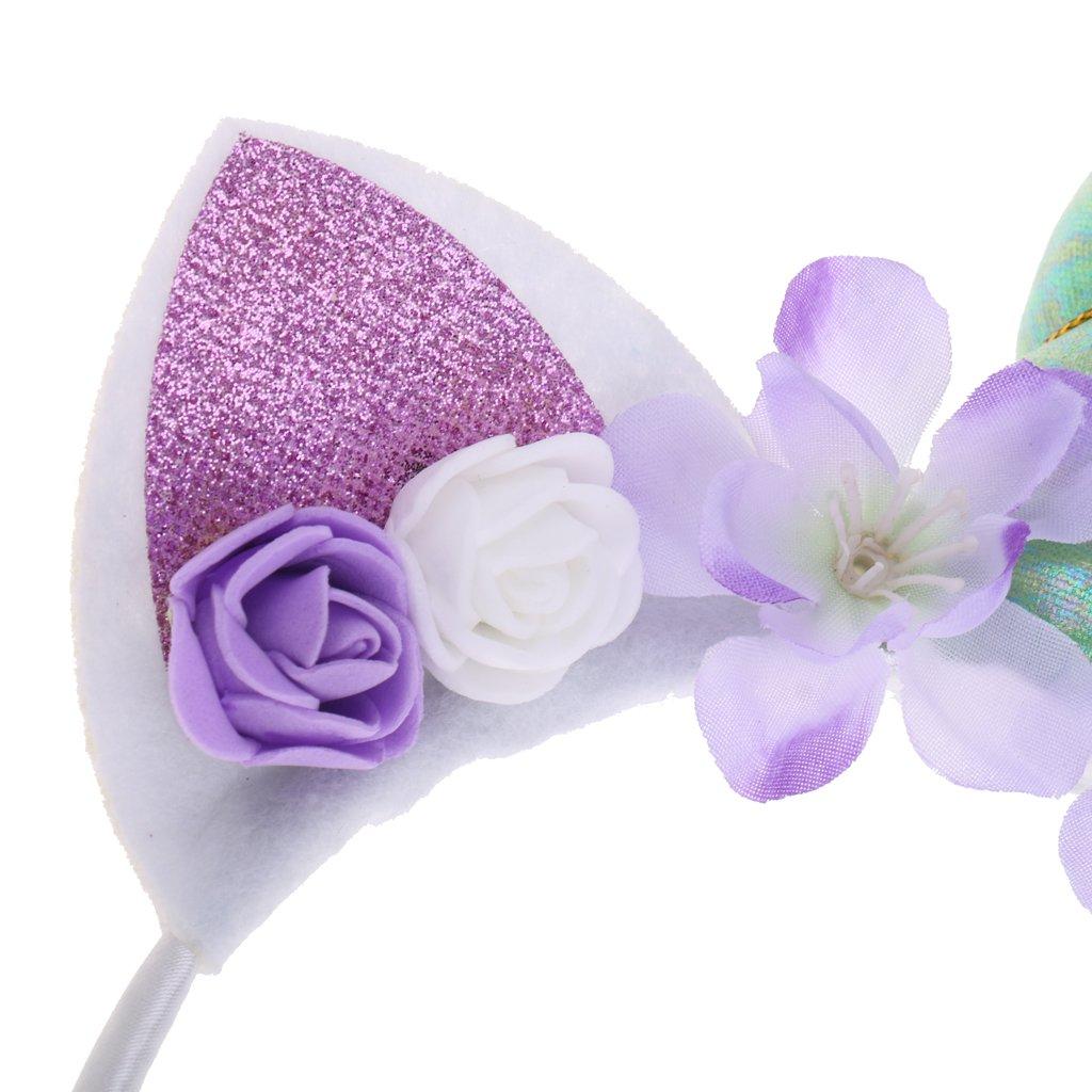 Homyl Bandeau de F/ête Serre-t/ête Fille Cosplay Licorne Ornement F/ête de Anniversaire Bijoux de Cheveux D/éguisement Rose
