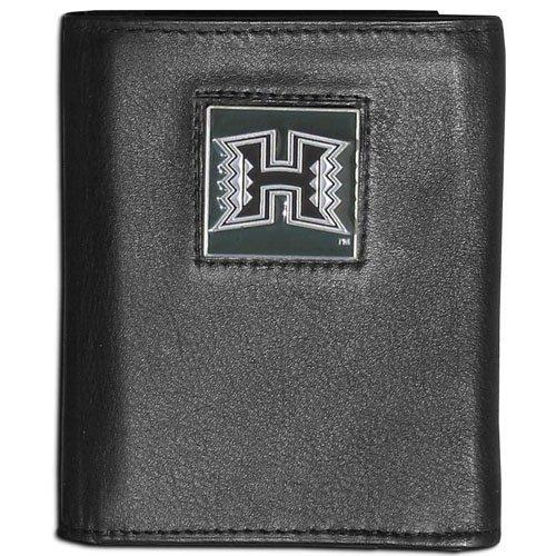 (NCAA Hawaii Rainbow Warriors Leather Tri-Fold Wallet )