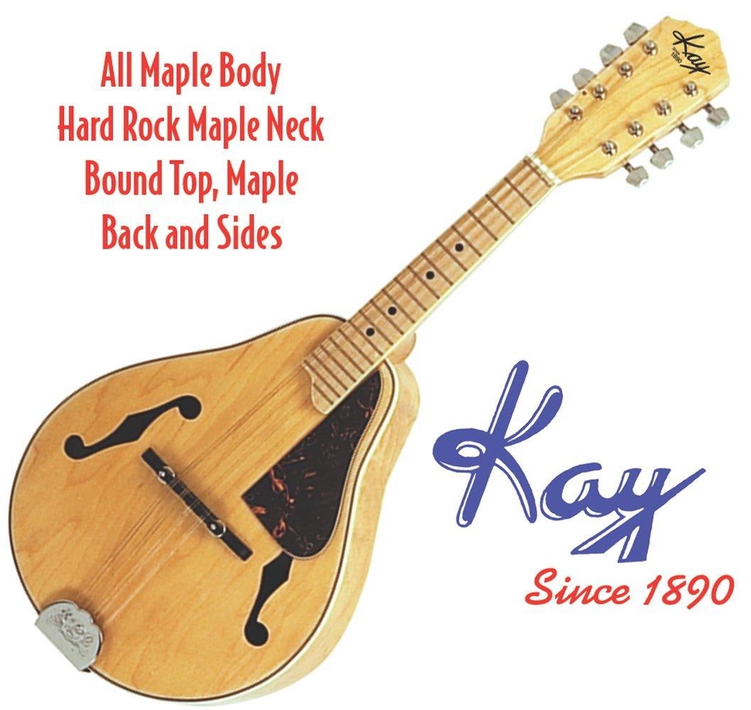 Kay Mandolin MAND10 Deep Arch Top Body Teardrop Shaped A-Style All Maple
