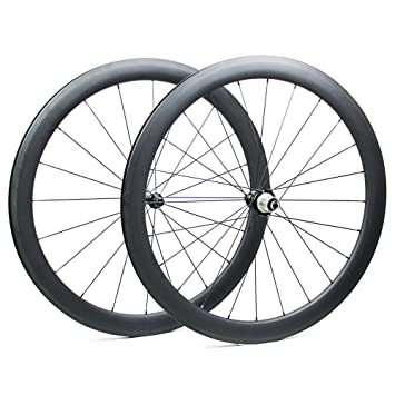 Yuanan 700C Ruedas de Carbono para Bicicleta de Carretera 47 mm Profundidad 27 mm Ancha Aero