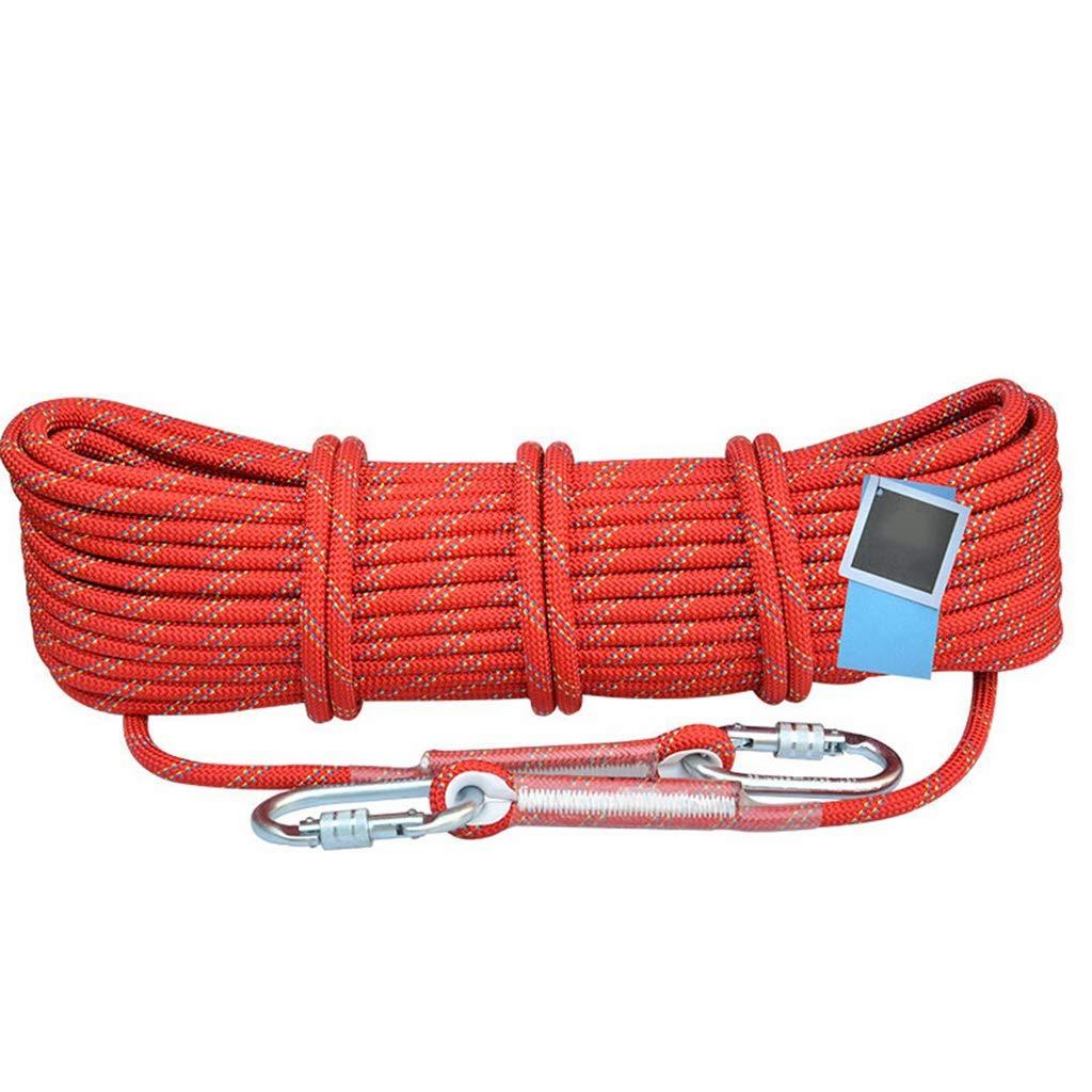 Rouge DLYDSS Corde d'escalade, Corde De Sécurité, Corde De Sauvetage en Plein Air, 10,5 MM, Matériau en Nylon, Escalade, Descente, équipement d'alpinisme 20m