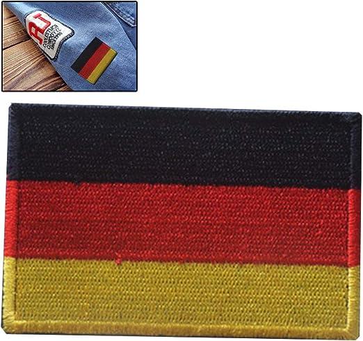 Parche bordado con la bandera nacional de Alemania para coser o planchar para ropa etc.