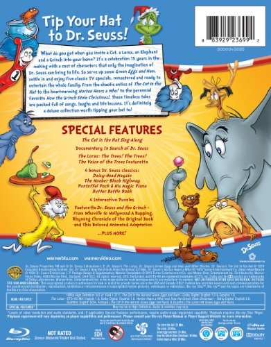 8f20fa50 Amazon.com: Dr. Seuss: Hats Off to Dr. Seuss Collector's Edition (Blu-ray):  Various: Movies & TV
