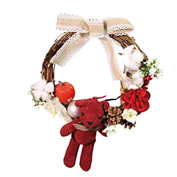 zty66 30cm christmas wreath artificial garland wall door decoration with ball and ornaments hot sale - Christmas Garland Decorations Sale