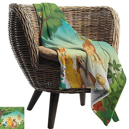 Amazon.com: Zoo,Super Soft Lightweight Blanket,Forest Scene ...