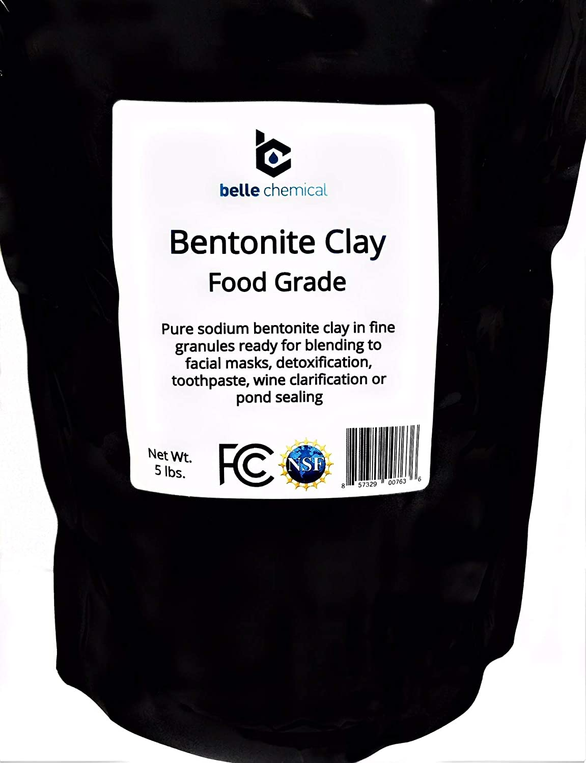 Food Grade Sodium Bentonite Clay (5 Pounds)