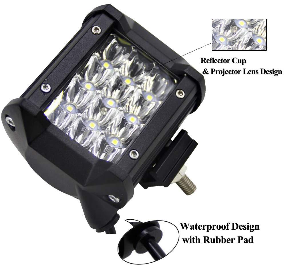 2X 120W 72W 36W 180W LED Arbeitsscheinwerfer Bar,ALPHA DIMA IP67 Zusatzscheinwerfer Arbeitslicht LED Scheinwerfer Arbeitsleuchte 120W