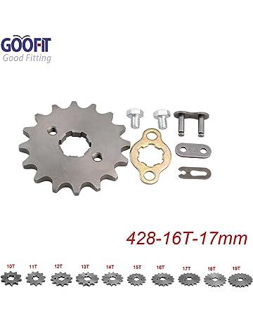 GOOFIT 17mm Diente frontal Rueda para moto ATV Dirt bike 428-10T