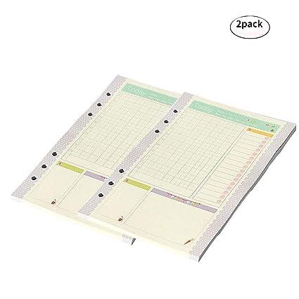 Amazon.com : DEBON A5 Size 6-Holes Loose Leaf Binder Paper ...