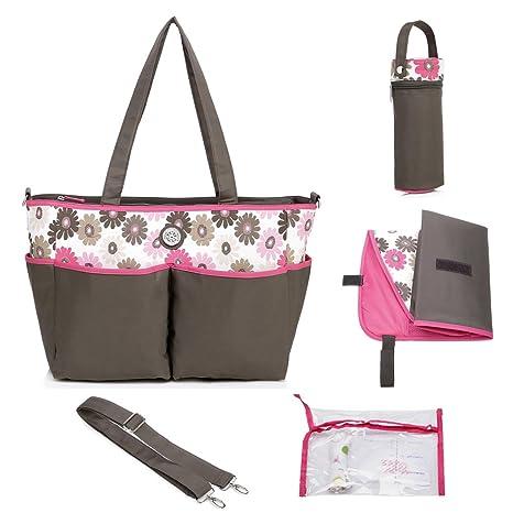 mengma Gran Capacidad Impermeable Nailon para Pañales Bolso Hobos Maternidad Enfermería bebé Bolsa Madres Clasificación Bag
